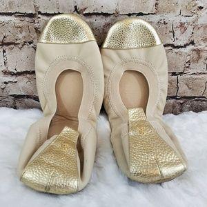 Yosi Samra Samantha Cap-Toe Leather Flat
